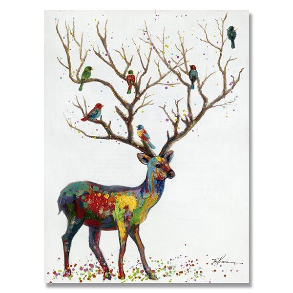 New Arrival Oil Painting Deer Hand Painted Wall Art Prints