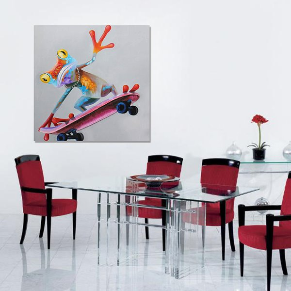 Oil Painting Modern Abstract Frog Hand Painted Wall Art Prints