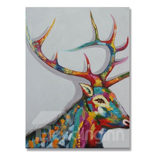 New Arrival Hand Painted Deer Oil Painting Wall Art Prints
