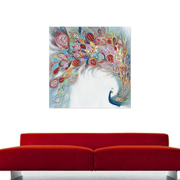 Wonderful Hand Painted Peacock Oil Painting Wall Art Prints