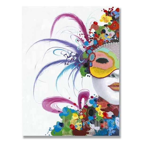 Creative Modern Mask Ready to Hang Oil Painting