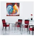 Single Modern Abstract Cock Ready To Hang Decorative Oil Painting