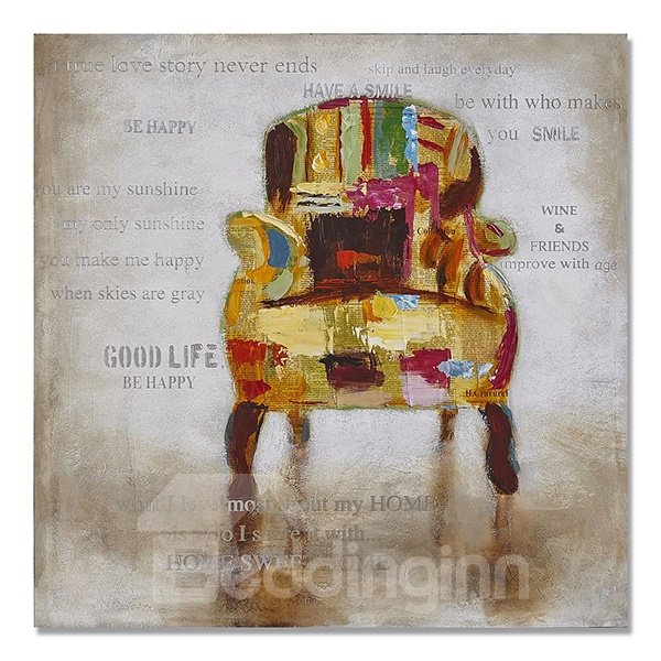 Single Modern Abstract Sofa Hand Painted Oil Painting