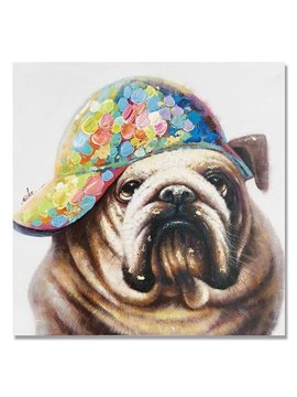 New Arrival Pop Art Cute BullDog Oil Painting