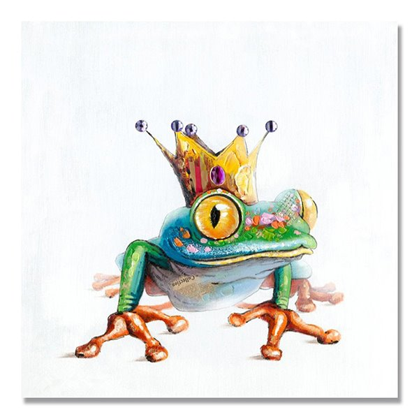 Creatice Modern Abstract Frog Prince Oil Painting