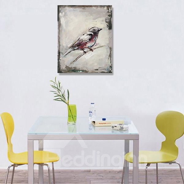 Simple Classic Birds Ready to Hang Oil Painting