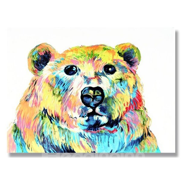New Arrival Pop Art Bear Hand Painted Oil Painting