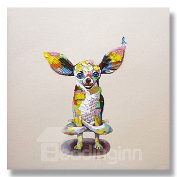 New Arrival Pop Art Abstract Dog Oil Painting