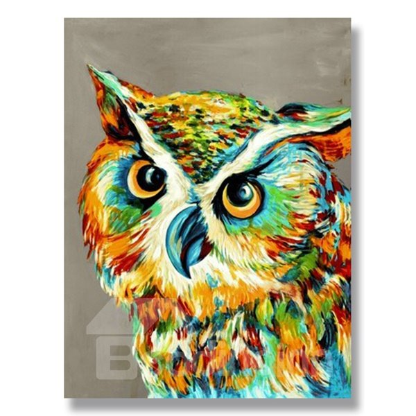 Hot Sale Realism Pop Art Owl Hand Painted Oil Painting