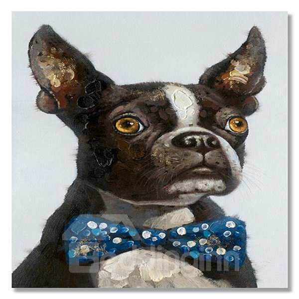 Modern Abstract Pure Hand Draw Chihuahua Dog Ready To Hang Decorative Oil Painting