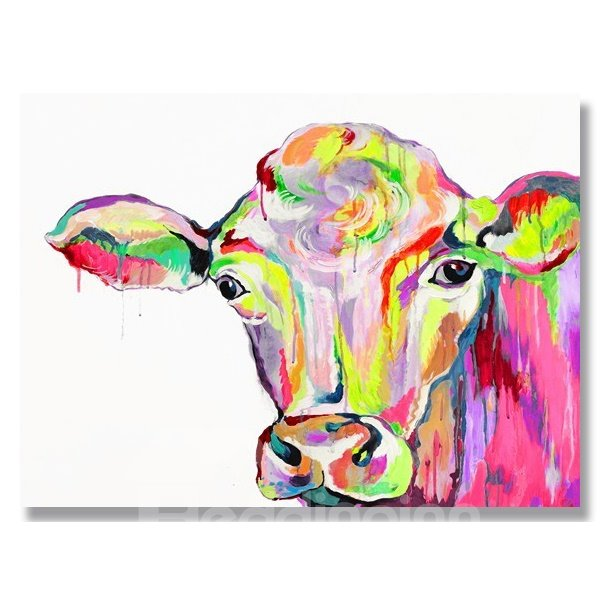 Cow Head Oil Painting - Mafiamedia