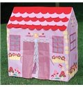 Big Lovely Pink House-like Mushrooms and Flowers Kids Indoor Tent