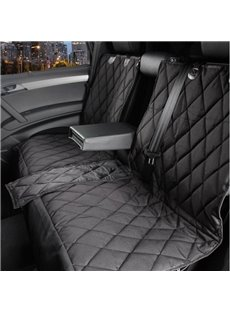 Grid And Zippered Business Pattern Rear Pet Seat Mat