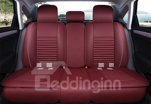 Special Fashion Grid Design Durable Leatherette Universal Five Car Seat Cover