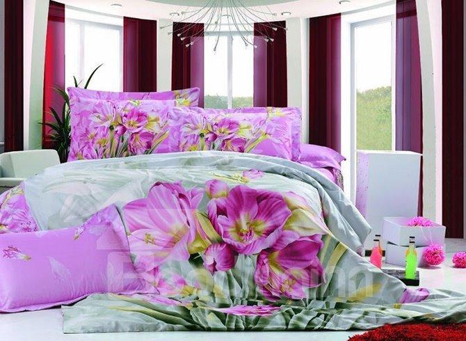 High Quality Unique Romantic Tulip Pattern 3D Bedding Sets