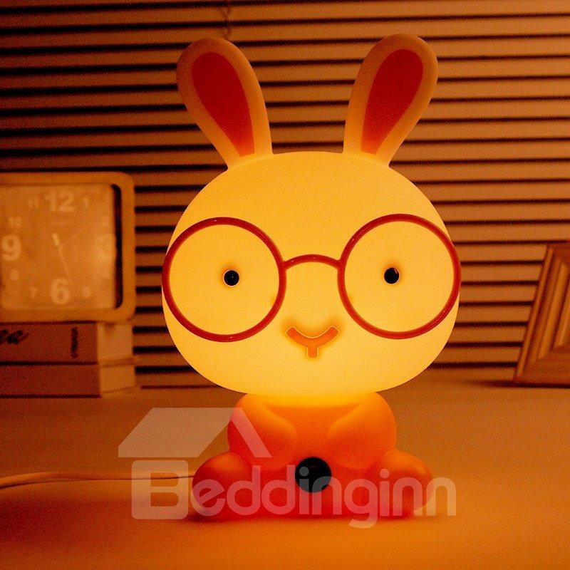 Cute Glasses Rabbit Shape LED Night Table Lamp