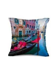 Fancy Romantic Venice Print Throw Pillow Case