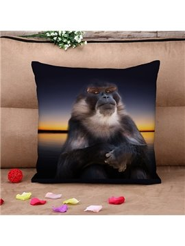 Top Class Vigorous Orangutan 3d Print Throw Pillow Case