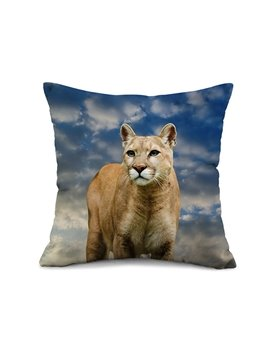 3D Beautiful Leopard Design Modal Fibre Throw Pillow Case