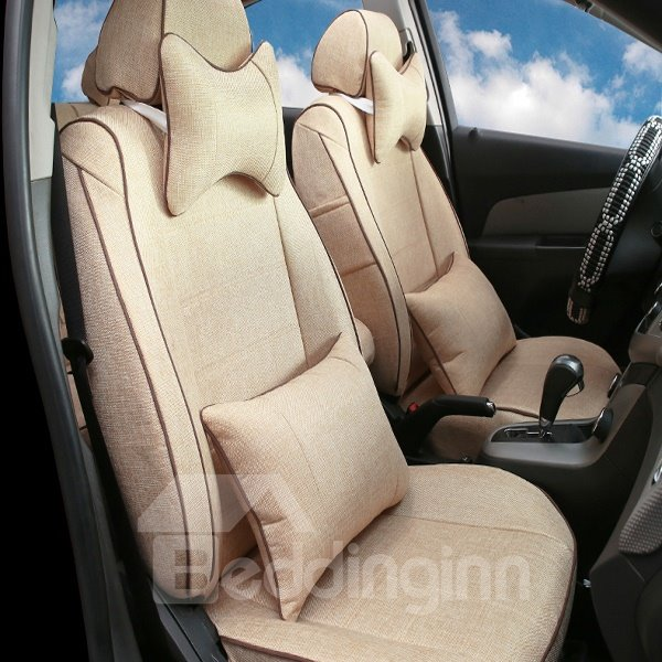 Comfortable and breathable Green Cotton Material Car Seat Cover