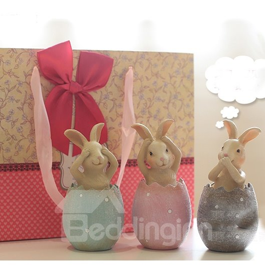 New Arrival Creative Eggs Rabbit Desktop Decoration