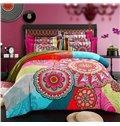 High Class Unique Ethnic Design 4-Piece Cotton Duvet Cover Sets