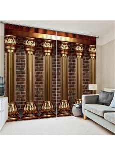 European Style Roman Column Print 3D Blackout Curtain
