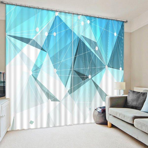 Chic Geometric Figures Print 3D Blackout Curtain