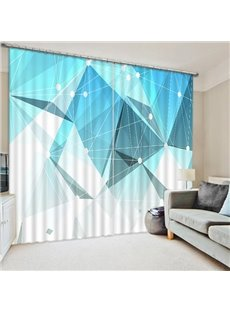 Chic Geometric Figures Print 3D Blackout Curtain
