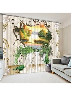 The Beauty out of the Wall Print 3D Blackout Curtain