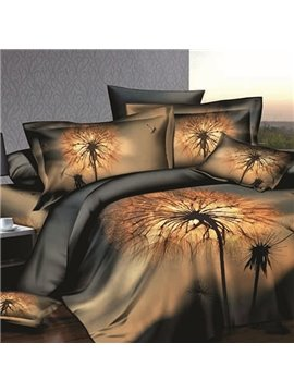 Dandelion Printing Skincare Cotton 2-Piece Pillow Cases