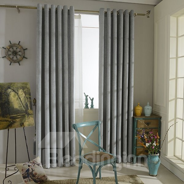 Pure Colored Dry Acrylic Grommet Curtain Panel