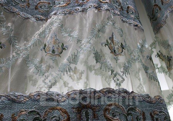 Gorgeous Guipure Semi Transparent Grommet Curtain Panel