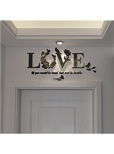 Creative Acrylic Love and Letters Home Decorative Wall Stickers