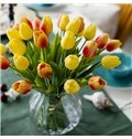 White/Yellow/Red Tulip Home Decorative Artificial Flowers