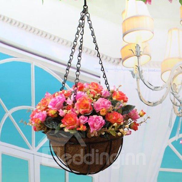 Beautiful Plastic Simulation Roses Hanging Flowers
