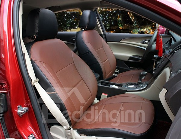 Classic Coffee Style Microfiber Leather And Universal Car Seat Cover