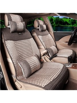 Cool Ice Silk Material And Classic Pattern Universal Car Seat Cover