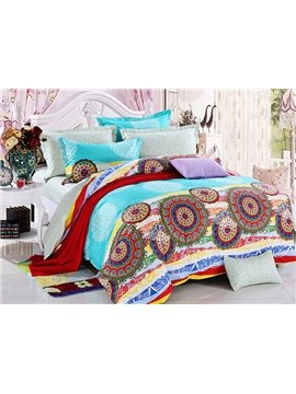 Amazing Bohemian Ethnic Style 4-Piece Cotton Duvet Cover Sets