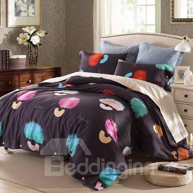 New Style Fashion Unique Pattern 4-Piece Cotton Duvet Cover Sets