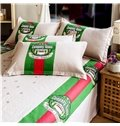 Modern Style Concise Pure Cotton 4-Piece Duvet Cover Sets