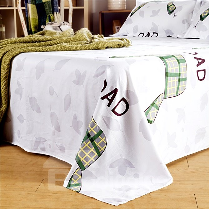 Stylish Cute Cartoon Bear Print 4-Piece Cotton Duvet Cover Sets