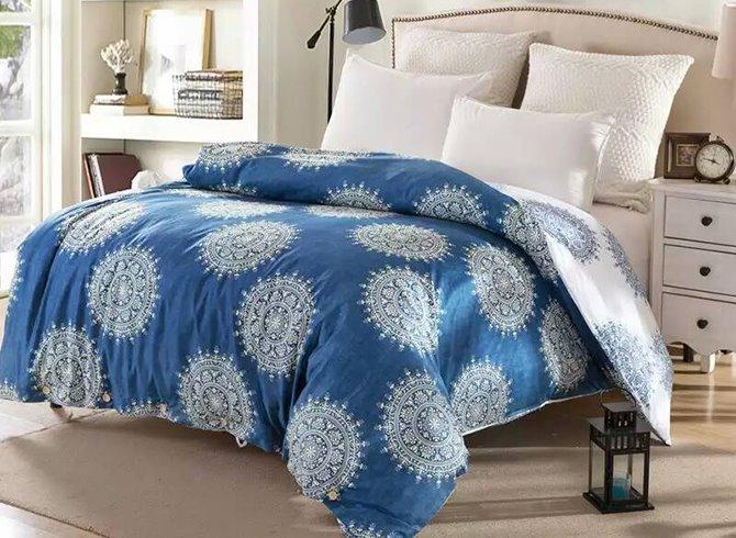 Mandala Pattern Ethnic Style Blue Cotton 4-Piece Bedding Sets/Duvet Cover