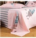 Characteristic Colorful Feather Reactive Printing 4-Piece Cotton Duvet Cover