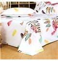 Fabulous Personality Letters Leopard Print 4-Piece Cotton Duvet Cover Sets