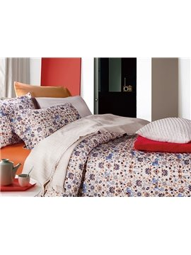 Concise Style Knight Printing 4-Piece Cotton Duvet Cover Sets