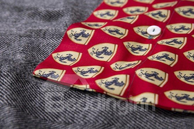 British Style Horse Pattern 4-Piece Cotton Duvet Cover Sets