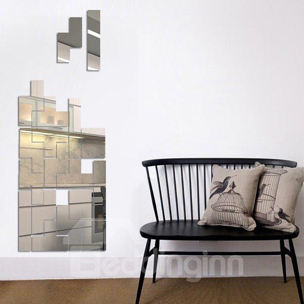 New Cute Geometry Pattern Mirror Wall Stickers