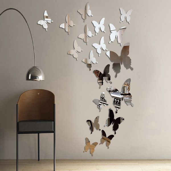 Amazing Acrylic Butterfly Pattern Mirror Wall Stickers - Wall decals mirror
