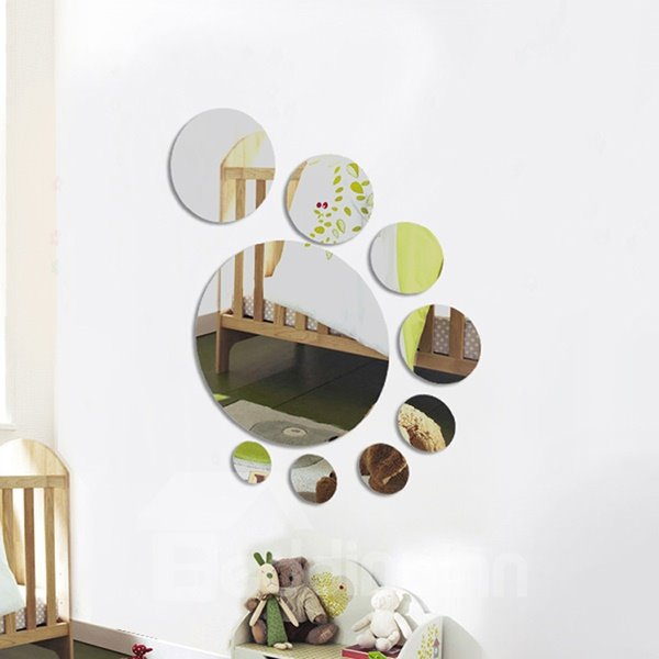 Decorative Mirror Surface Dots Shape Wall Stickers